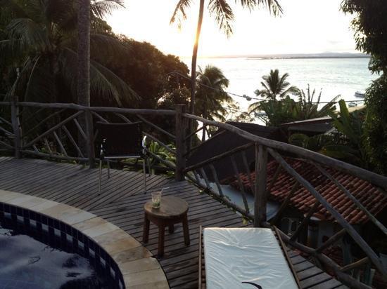 Hotel Pousada Natureza : vista do deck da piscina