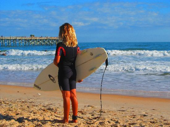 Flagler Beach, Флорида: Great beach for surfing