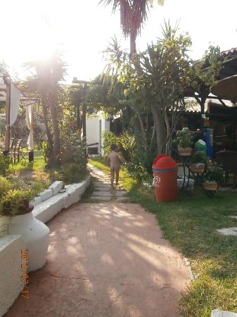 Angeliki Beach Hotel: Path from the bar to the beach