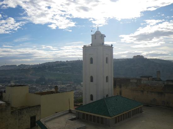 Dar Fes Medina: view from the roof top terrace