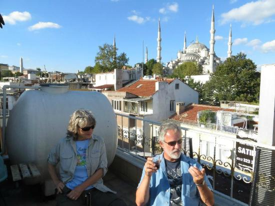 View from the Emine Sultan Hotel rooftop