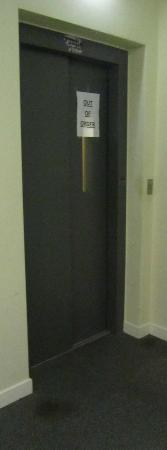 Shepherds Hotel: the lift - typical of the condition of the hotel