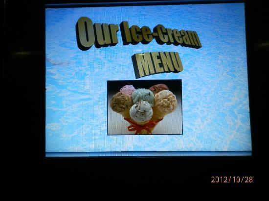 بيلا فيستا هوتل: Ice cream notice 