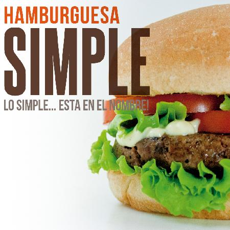 Quattro D Heladeria: Hamburguesa Simple