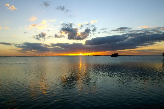 Tarpon Lodge & Restaurant: sunset from the marina