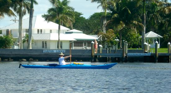 Tarpon Lodge & Restaurant: kayaking near the Tarpon Lodge