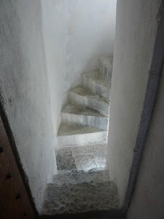 Listowel Castle: Spiral stone stairs