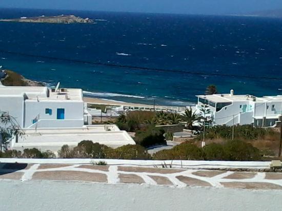 Myconian K Hotels: Vista que temos do Hotel ... MARAVILHOSO !