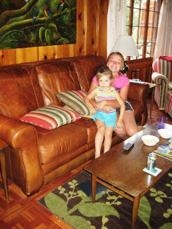 Wallowa Lake Resort: Lounging on the couch!