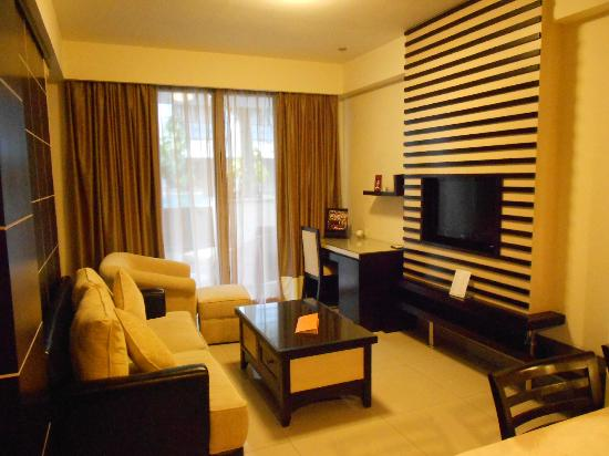 Aston Kuta Hotel & Residence: The lounge-room of the premier suite
