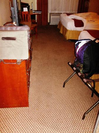 Holiday Inn Express Cedar City: floors so dirty wore shoes the whole time