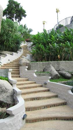 Jamahkiri Resort & Spa: The steps are many but the walk is beautiful.
