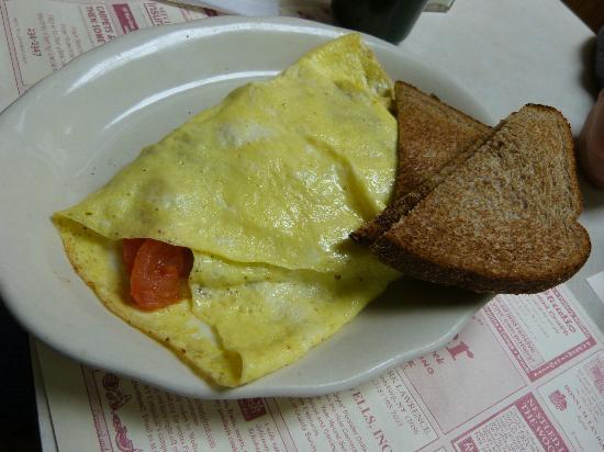 Cobleskill Diner: vegetable omelet