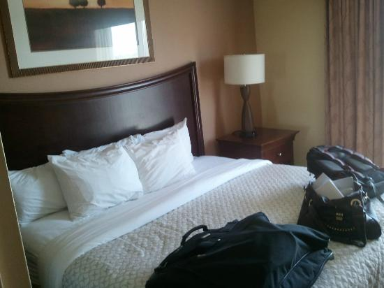 Embassy Suites by Hilton Tulsa - I-44: Master bedroom (king bed) of 2-room suite