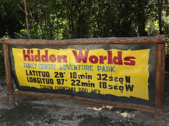 Hidden Worlds Family Cenote Park: hidden Worlds