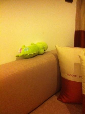 Novotel Phuket Vintage Park : The stuffed toy crocodile that we left behind but was sent back to us.