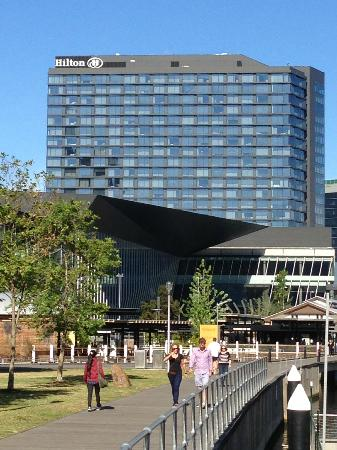 Hilton Melbourne South Wharf: Looking at Hilton Hotel South Wharf