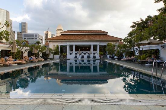 Nice pool picture of raffles hotel singapore singapore tripadvisor for Raffles hotel singapore swimming pool