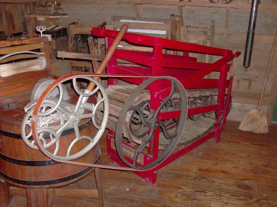 The Oldest Store Museum: Dog, goat or kid driven treadmill like washing machine