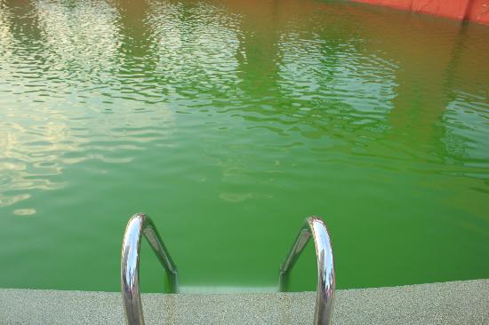 Baiyoke Sky Hotel : Dirty Swimming pool water