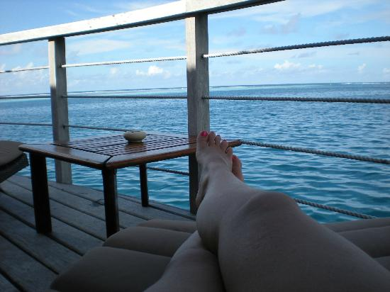 Manava Beach Resort & Spa - Moorea: view from our bungalow
