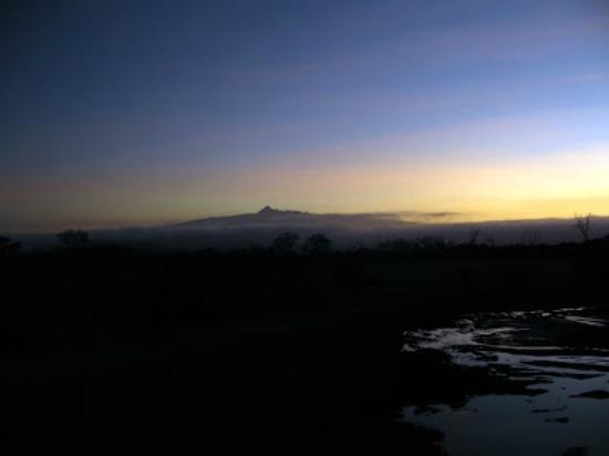 Treetops Lodge: MT kenya from treetops view area