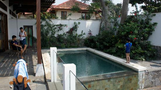 Novus Giri Resort & Spa: Our private pool in the morning