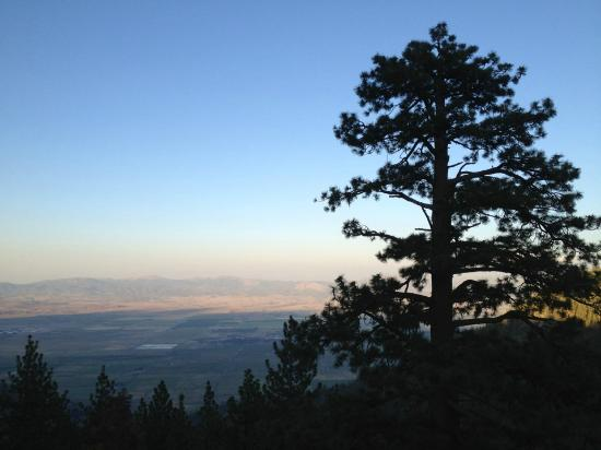 The Ridge Tahoe: a summer sunset over the Carson Valley