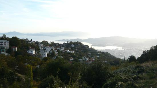 Mikros Vorias small luxury suites : View from the hotel