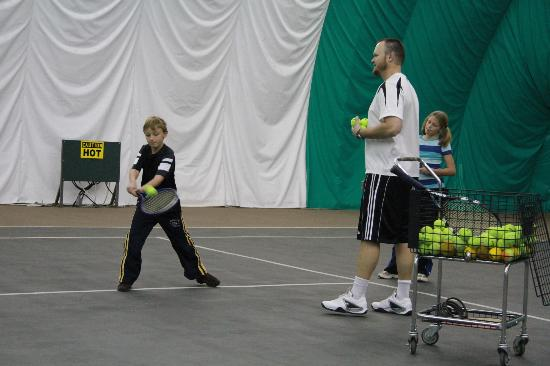 The Ridge Tahoe: tennis lessons at the indoor sports court
