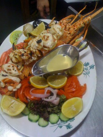 Odyssia Restaurant: grilled lobster