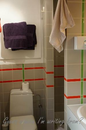 Hôtel Le Sarment d'Or: WC/shower was always kept clean with fresh towels daily