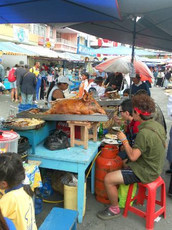 Gray Line Tours Ecuador : Pig anyone? Otavalo Market