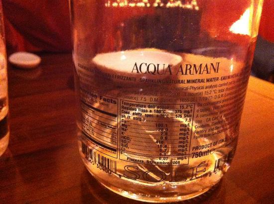 Acqua Armani ! ? - Picture of Nobu Milano, Milan - TripAdvisor