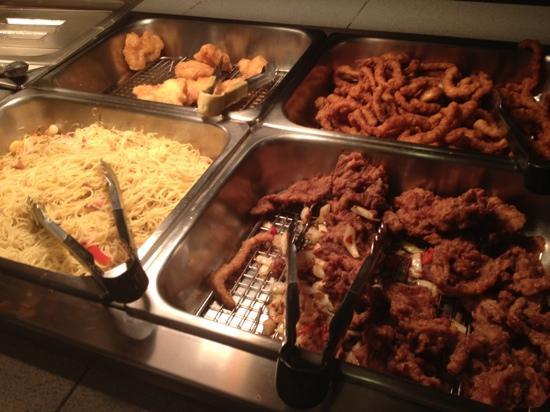 Flower Garden Chinese Buffet Restaurant Noodles Calamari En