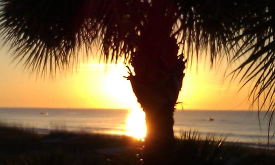 Ocean Isle Inn: Sunrise...from our seating area