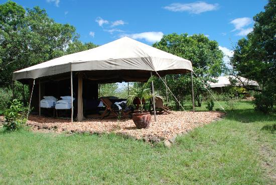 Enkerende Tented Camp: Vista de la tienda, un lujo en plena Sabana.