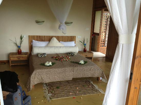 Villa Vanilla: la chambre fleurie pour notre arrivée