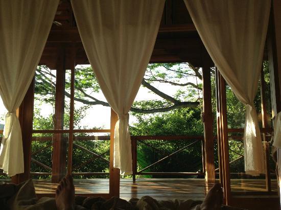 Villa Vanilla: la vue depuis notre lit
