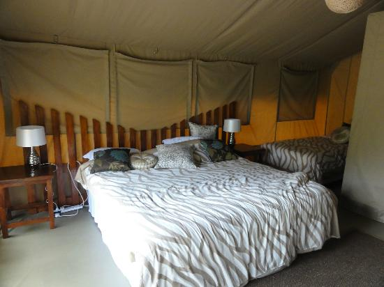 Wildebeest Eco Camp: Inside tent