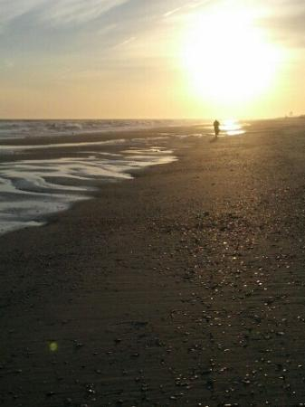Ocean Isle Inn: A walk on the beach at sunset