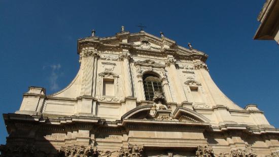 Chiesa di Sant'Irene: particolare della facciata 