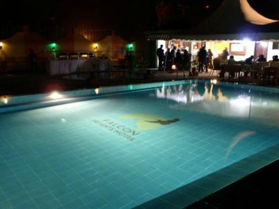 Falcon Heights Hotel: The Pool at night