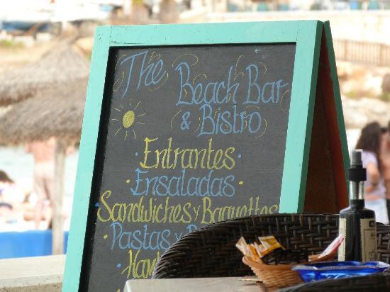 The Beach Bar: Menu