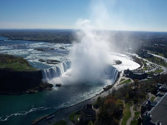 DoubleTree Fallsview Resort & Spa by Hilton - Niagara Falls: Horseshoe (Canadian Falls) view from top floor.