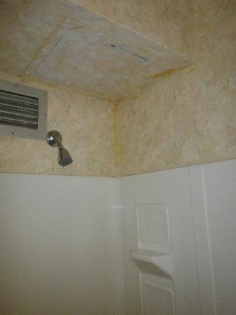 Inlet Tower  Hotel & Suites: Im Bad zu sehen dass das Hotel nicht mehr das Neuste ist.
