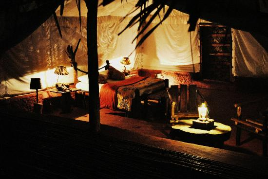 Andhra Pradesh, India: the african tent interior