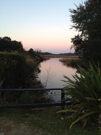 Inn at Middleton Place: Rice mill house and Ashley River at sunset