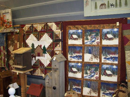 Prairie Path Guest House: quilts made by owner in Prairie Path Sampler