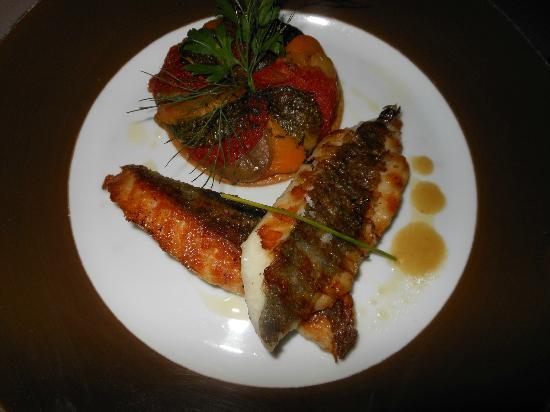 La Villa des Orangers - Restaurant : Filetto di San Pietro e tortino di verdure e legumi grigliati